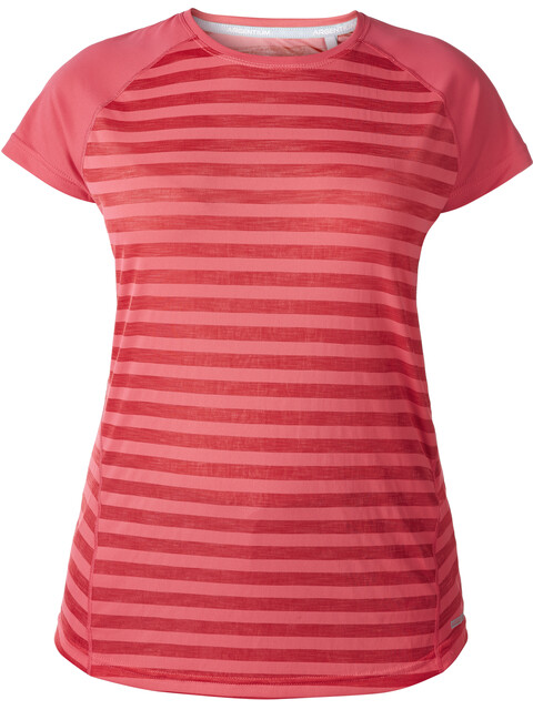 Berghaus Stripe II SS Crew Baselayer Women Hot Raspberry Stripe/Hotraspby